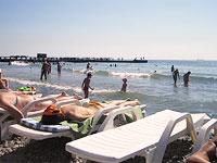 Відпочинок на Чорному морі в Одесі. Пляж Лузановка