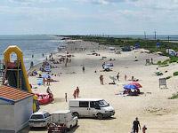 Лебедевка, пляж, коса в Лебедевке